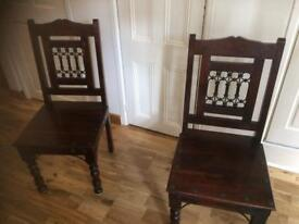 Solid wood antique chairs