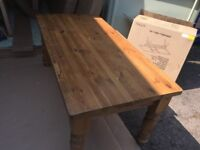 """8 SEATER SOLID PINE TABLE - PERFECT FOR PAINTING - ( 6' X 3' ) - 2"""" SOLID TOP"""