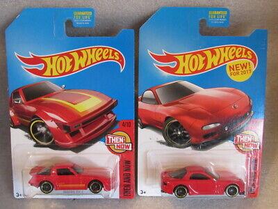 HOT WHEELS MAZDA RX-7 NOW & THEN  LOT OF 2 - '95 MAZDA RX-7 & MAZDA RX-7 - MAZDA