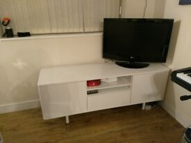 Contemporary White TV Bench/Sideboard