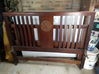 Mahogany Vintage double bedhead and foot