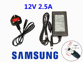 New Samsung 12V 2.5A 30W AC DC Power Adapter Desk Top Charger PSU For CCTV Security Camera LED Strip