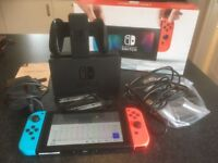 NINTENDO SWITCH CONSOLE BOXED AS NEW