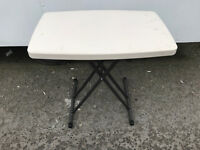job lot small stackable fold out flat pack tables - school market bootsale Picnic over 50 in stock