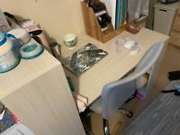 Computer desk with bookshelves