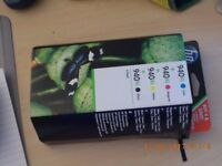 HP 940 Pack of 4 colours Printer ink cartridges unopened Printer now packed up