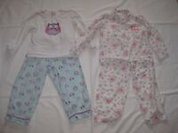2 Pairs of Girls Pyjamas Age 5-6