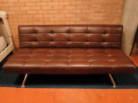 BRAND NEW EX DISPLAY BARKER & STONEHOUSE PREMIUM LEATHER SOFA BED