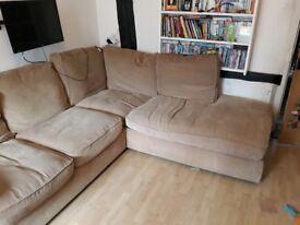 Harveys Beige Corner Sofa