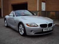 BMW Z4 3.0i SE CONVERTIBLE 2005 6 SPEED AUX CD PLAYER RED LEATHER SEATS EXTRAS LONG MOT FOR 4095