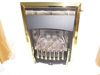 valor gas fire ready to fit in super condition,gold with black surround