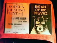 ORCHESTRAL PERCUSSION, SNARE AND DRUMMING INSTRUCTION TUTOR BOOKS. £79 FOR ALL OR JUST BUY 1 OR 2.