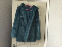 Topshop jacket/coat, faux fur size 8, lovely and warm, excellent condition, was £20.00 now £15.00