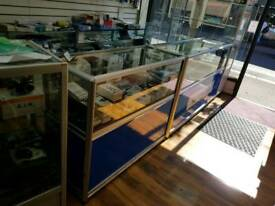 2x Glass Display Counters