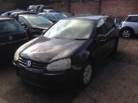 Breaking for parts MK5 VW Golf 1.9 SDi Diesel black colour doors wings bonnet bumpers tailgate