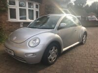 Beetle Volkswagen VW silver car current MOT but also good project or for spares repairs 2 litre