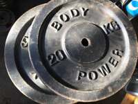 40kg Body Power Weight Plates - 2 x 20kg
