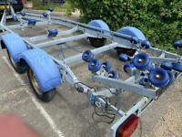 Boat twin axle trailer
