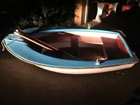 8ft x 4ft lightweight fibreglass rowing dinghy - all offers considered