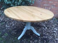 Circular Solid Oak Dining Table, New / Boxed