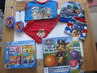 PAW PATROL BUNDLE ( TOYS, GAME, CLOTHES, HATS, PYJAMA, PUZZLES ) AGE 3-4 YEARS