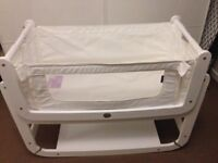SnuzPod 2 Snuz Pod 2 Baby Bedside Cribs with Original SnuzPod 2 Mattress & 2 Cover - White