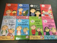 Brand New Charlie and Lola mini rucksack collection of 8 books