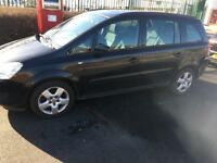 LOW MILEAGE 2008 VAUXHALL ZAFIRA 1.8 i 16v Exclusiv 5dr .ONLY RUN 71k. LOW PRICE FOR URGENT SELL.