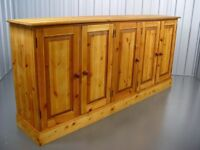 Rustic Farmhouse Wooden Pine Sideboard Furniture