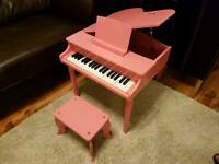 Pink Baby Grand Piano and stool