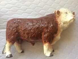 Large Melba Ware Hereford Bull circa 1970s