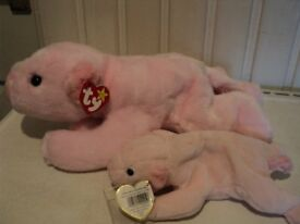 Ty 'Squealer' Beanie Buddy and Beanie Baby.