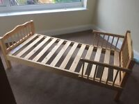 Child size pine bed frame free for collection