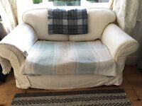 2 seater cream sofa. Used. 2 sets of covers. Buyer collects. Need to go by 19th Feb. £20