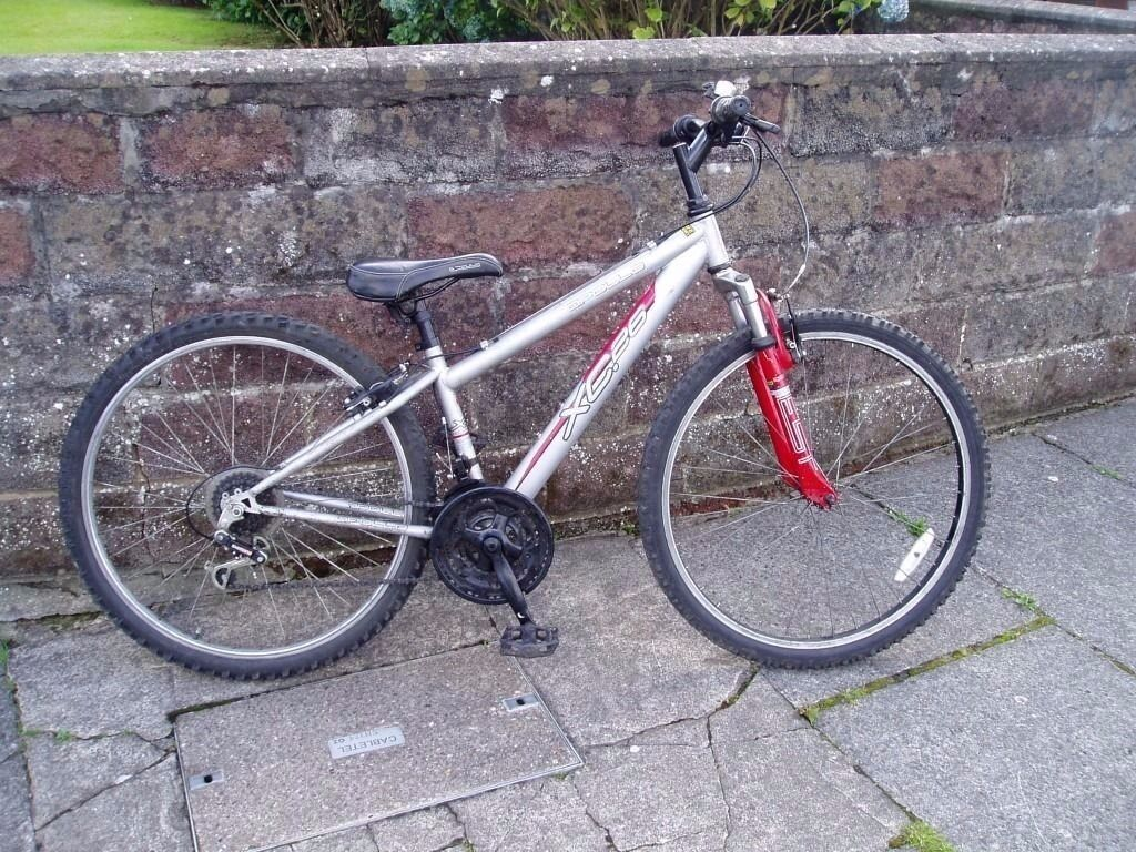 "Mountain Bike, 14"" Frame,26"" Alloy Wheels,Front suspension, FULLY SERVICEDin CardiffGumtree - Mountain Bike, 14"" Frame, 26"" Alloy Wheels, 18 Speed SHIMANO gears, all working,chainguard, Front suspension, Nice clean bike, Everything works seat and bars fully move up and down, Pic 1 shows seat low, pic 2 seat high, Bike has been fully..."