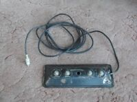 """4 Button Foot Switch from Peavey """"Deuce"""" Combo Guitar Amplifier."""