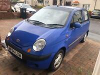 blue daewoo matiz 2004, low mileage petrol
