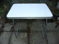 """SMALL LIGHTWEIGHT FOLDING LEG TABLE 32"""" long x 24"""" wide x 26"""" Tall WITH CARRY HANDLE"""