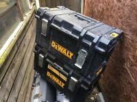 2 x genuine DEWALT toolboxes
