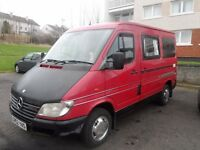merc 208 sprinter camper conversion sleeps two 240v out let water sink cooker gas