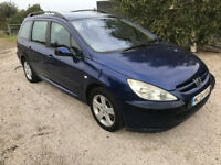 2004 Peugeot 307 SW 2.0 hdi Diesel estate - NEW MOT sept 2018 - reconditioned Engine