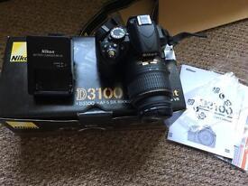 Nikon D3100 SLR camera boxed with 18-55mm lens