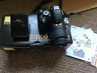 Nikon D3100 SLR camera boxed with 18-55mm lens