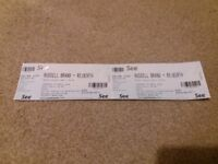 Russell Brand Tickets x 2 for Perth Concert Hall