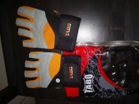 2 pairs of weight lifting gloves from Tabo