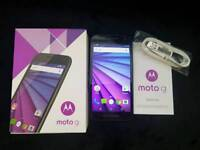 Motorola Moto G 3rd Generation Android - O2 Network - Black - Excellent Condition
