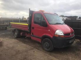 2009 Renault master tipper with hi ab