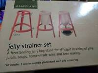 Lakeland Jelly Strainer Set + free new spare bag