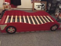 Standard size Red racing car single bed frame