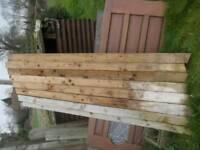 100mm x 100mm x 2.4m fence post pressure treated